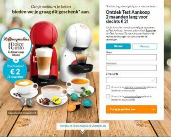 Testaankoop Koffieapparaat Gratis