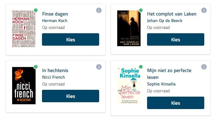 4 boeken om uit te kiezen